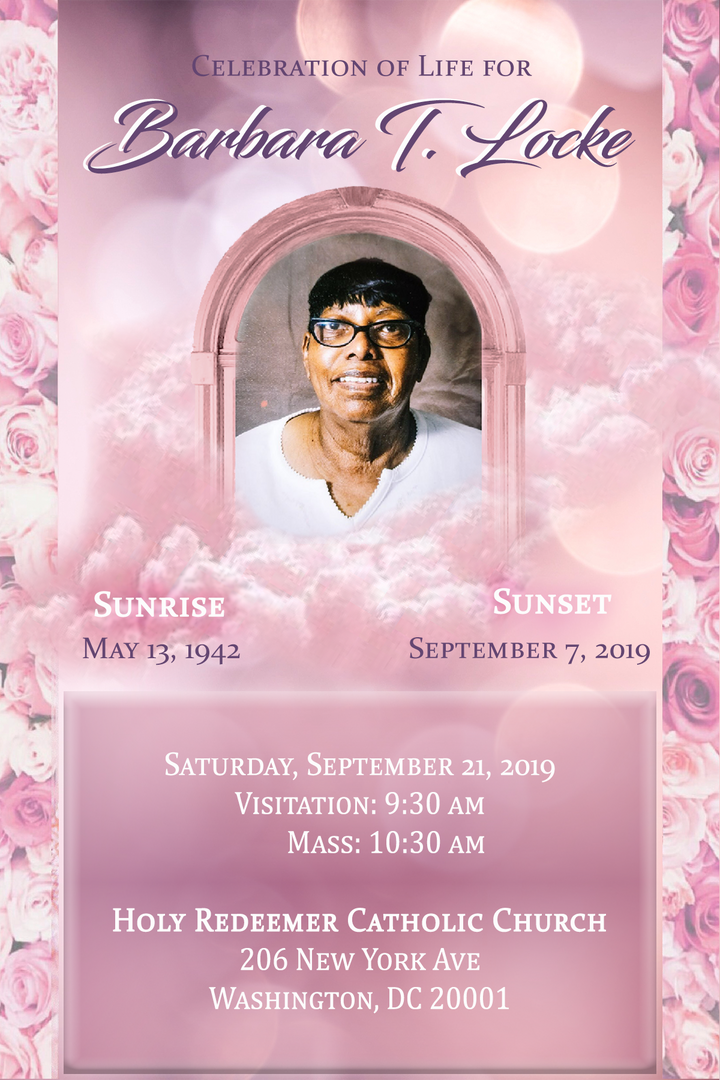 Traditional Photo Template with Text Funeral Announcement