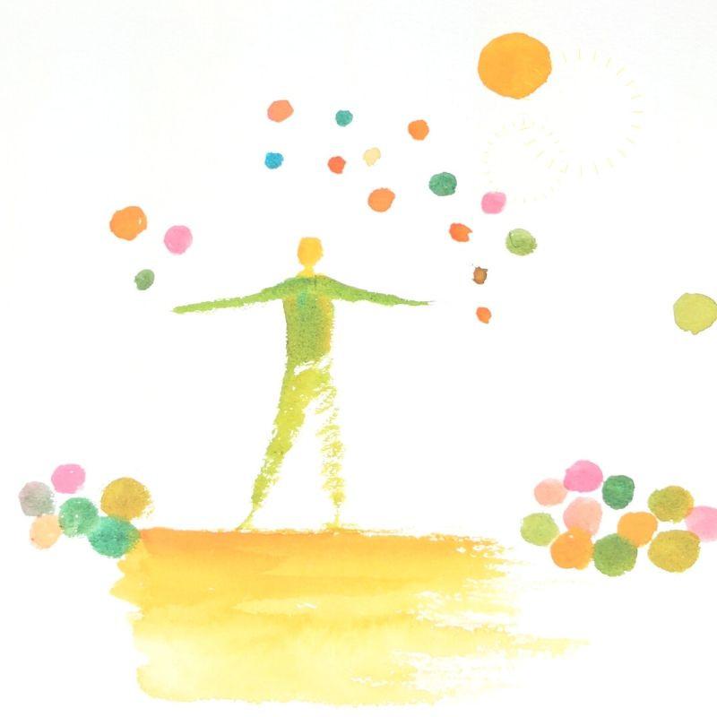 illustration of balance by Ingela Johansson