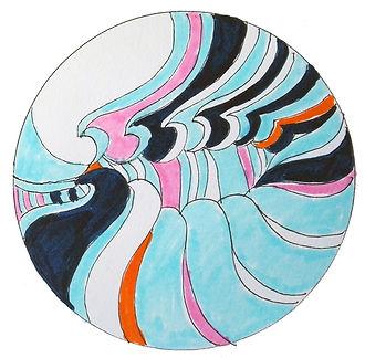 A wave Mandala by Ingela Johansson