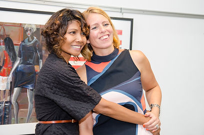 Ni Nyoman Sani and Ingela Johansson at the Soul Sisters exhibition
