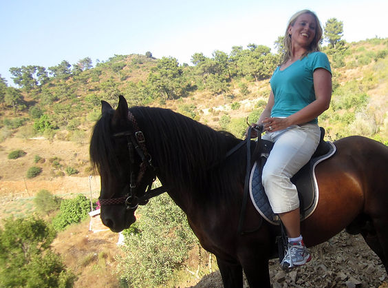Ingela Johansson on a horse