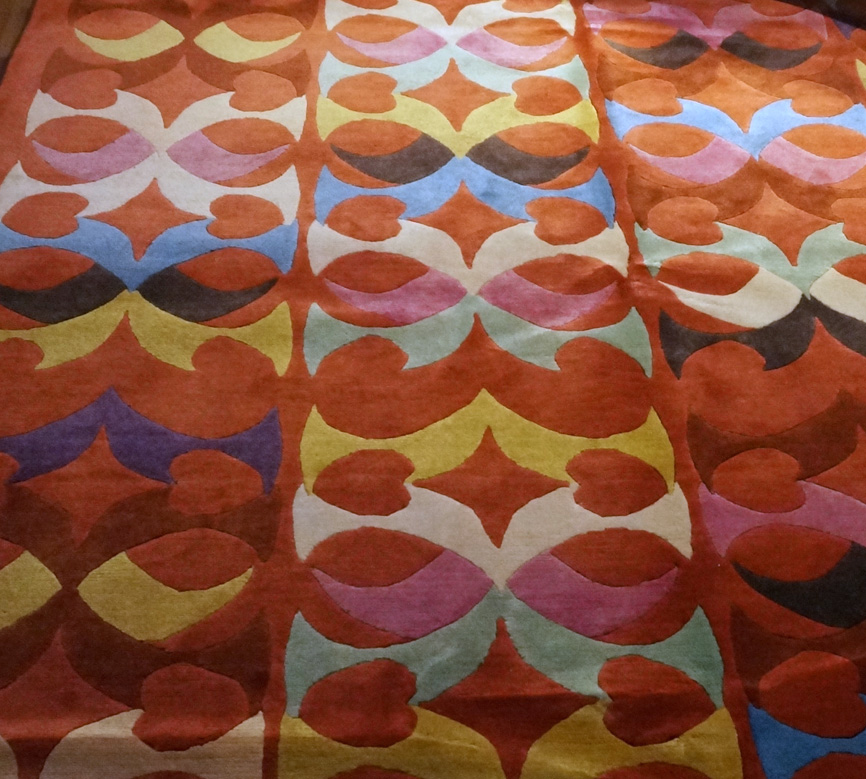 Red Carpet heart carpet multi colours