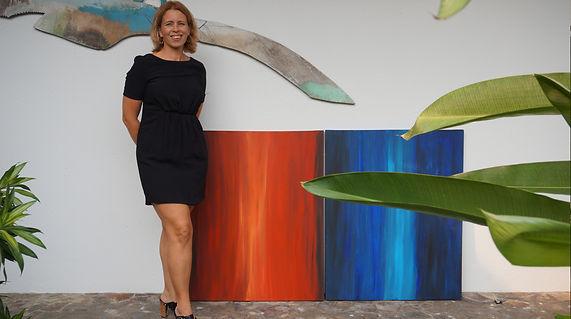 Ingela Johansson art opening at the Swedish embassy in Singapore