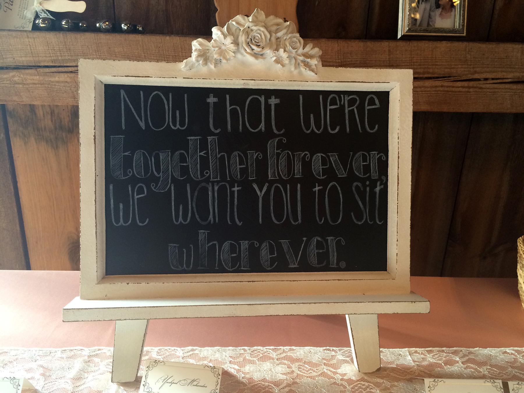 Chalkboard Message