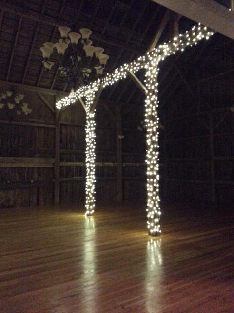 Inside barn lighting