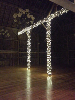 Inside barn lighting