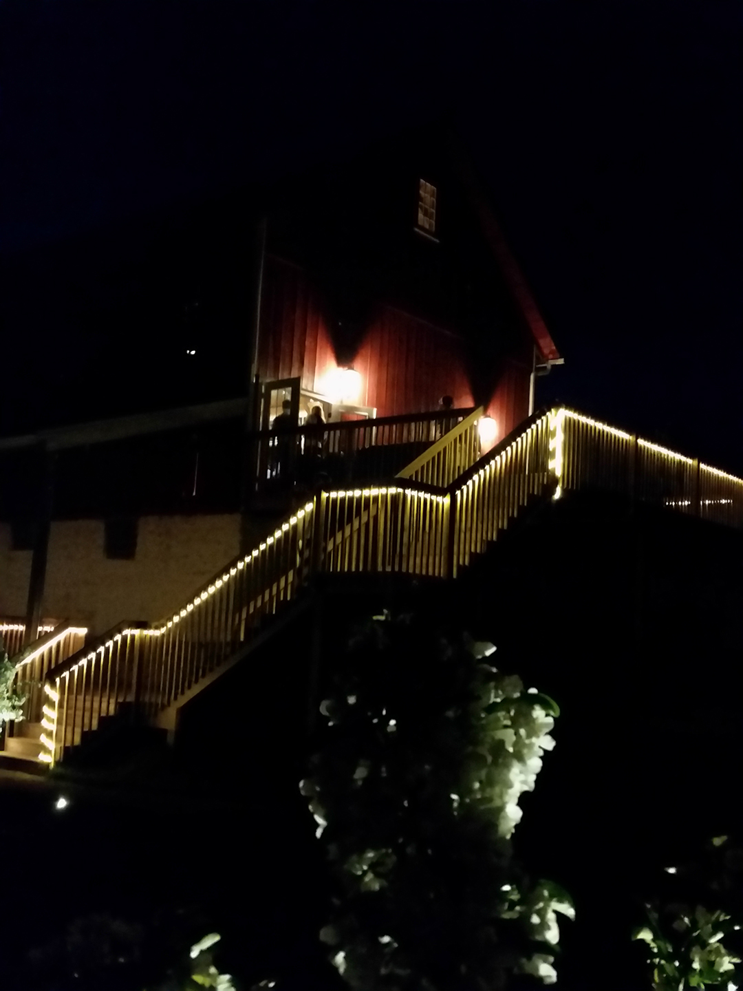 Nightime Deck and Stairs