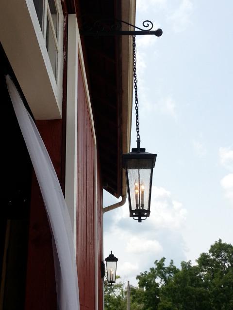 Lighting front of barn