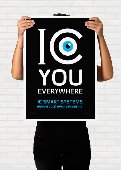 חברת Ic - smartsystems . מצלמות אבטחה. עיצוב ומיתוג חזותי: עיצוב לוגו וניירת משרדית /שילוט / עיצוב למדיה הדיגיטלית