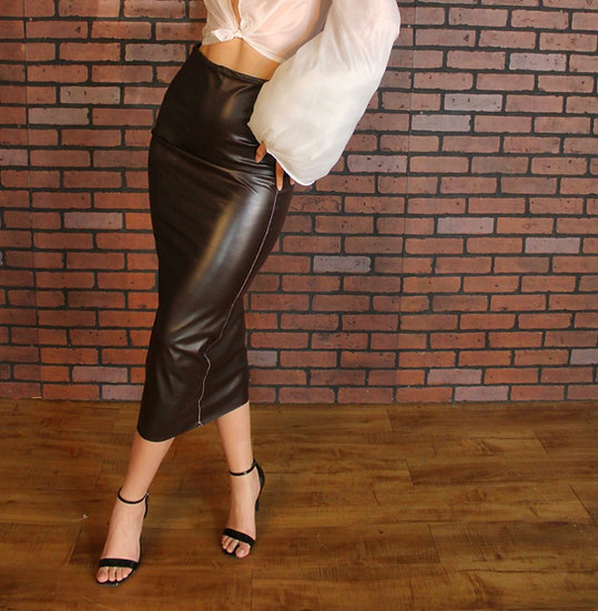 Stacy Leather Skirt