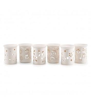 Brûle-parfum Élégance porcelaine blanche