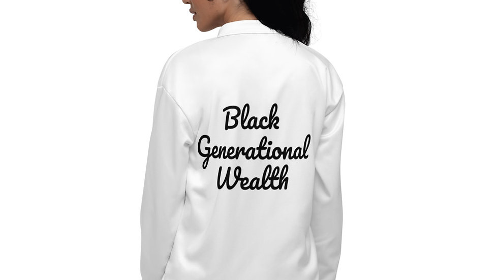 Black Generational Wealth - Unisex Bomber Jacket copy copy