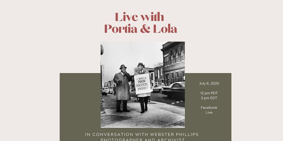 In conversation with Webster Phillips, Artist and Archivist