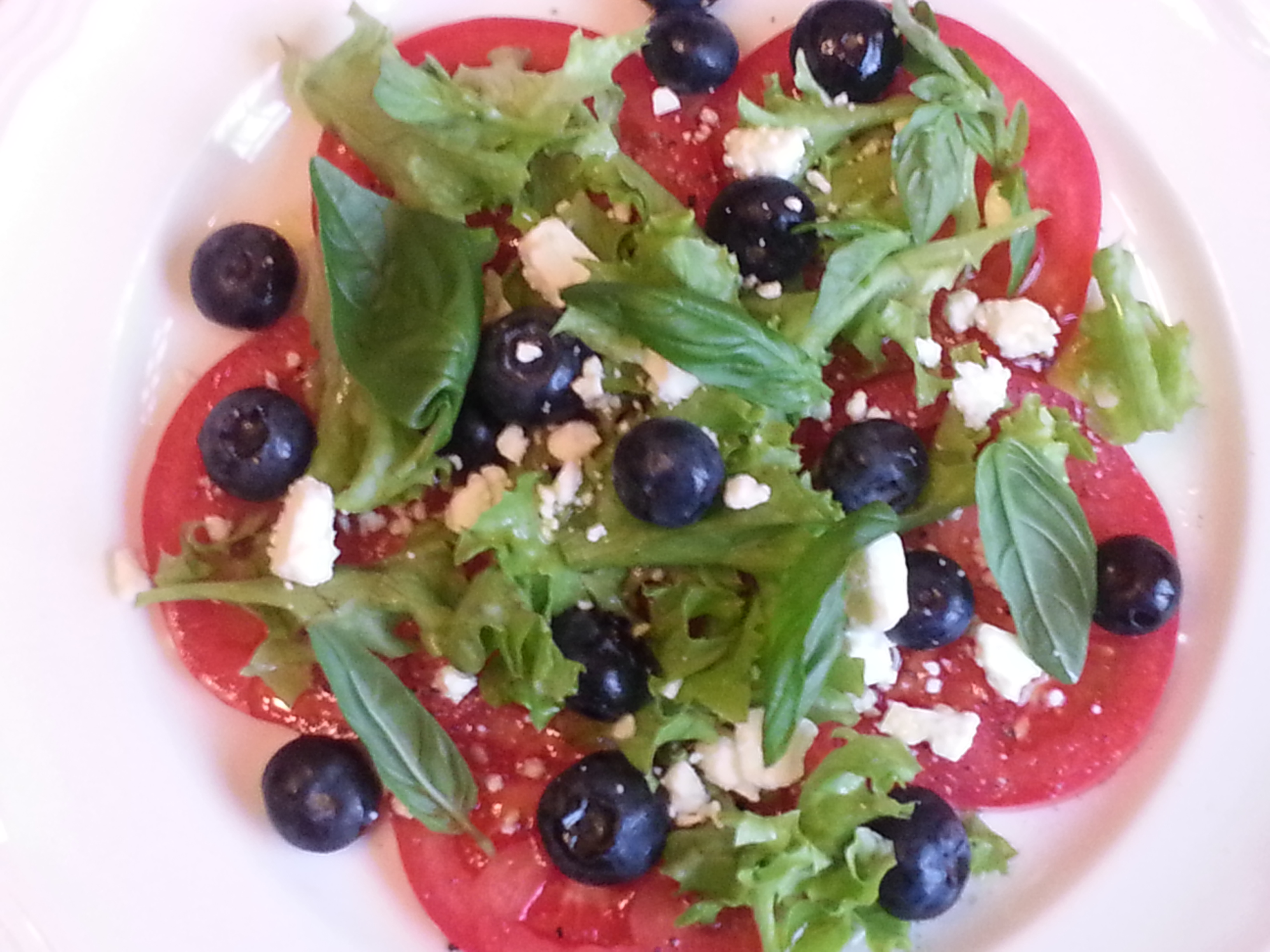 Tomato Blueberry Salad with Basil