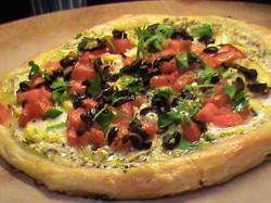 Squash, Tomato & Feta Tart