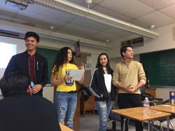 "Team presenting their ""silly idea"""