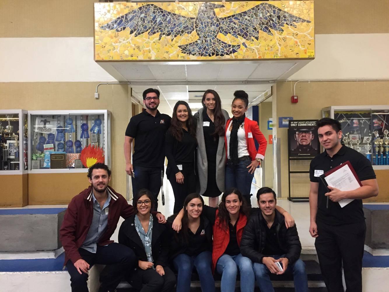 AMA'ers at Coronado High School
