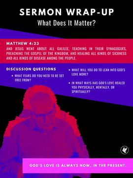 WHAT DOES IT MATTER? | Steve Gudrie
