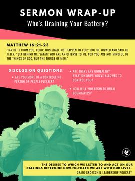 WHO'S DRAINING YOUR BATTERY? | Steve Gudrie