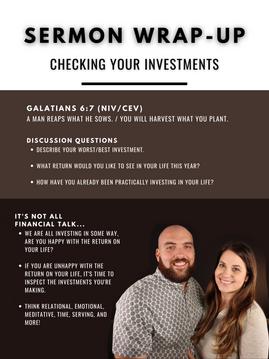 CHECKING YOUR INVESTMENTS | Trevor & Megan Gudrie