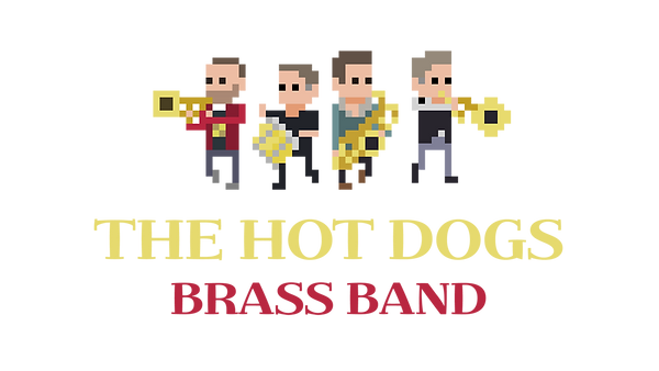 the hot dogs brass band logo