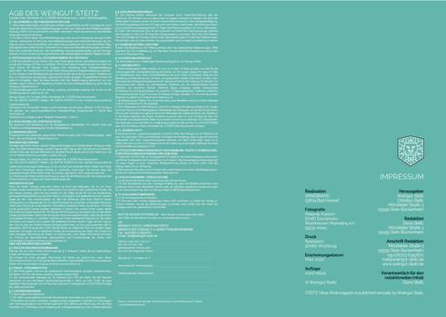 STEITZ VIBES Weinmagazin 01.2020   IMPRESSUM