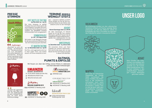 STEITZ VIBES Weinmagazin 01.2020   PRESSE & RATINGS