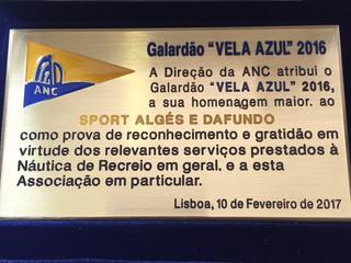 Vela do Sport Algés e Dafundo homenageada pela Associação Nacional de Cruzeiros