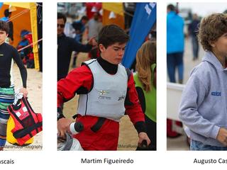 Velejadores do Clube Apurados para o Campeonato Portugal de Juvenis Classe Optimist