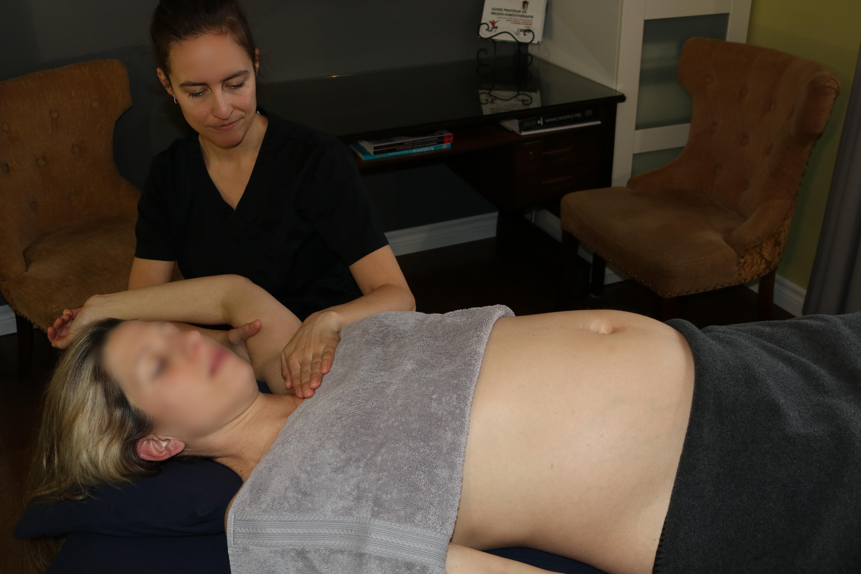 massothérapie femme enceinte