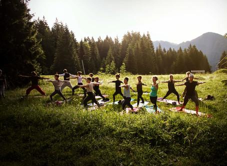 Yoga auf der Hütte, Juni 2019