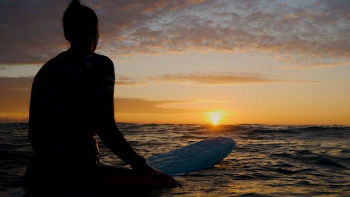 Sunset Surf, France.