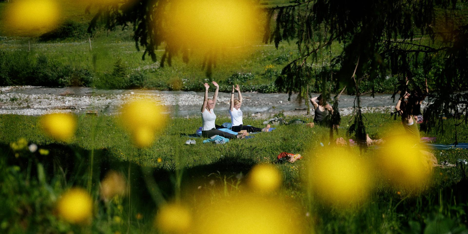 Yoga am Ahornboden