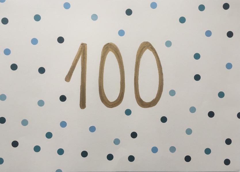 I ja en van 100!