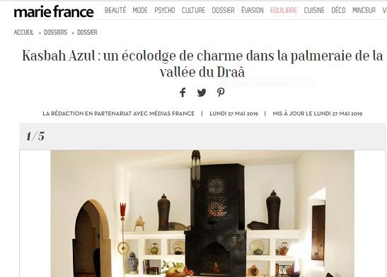 Kasbah Azul dans Marie France