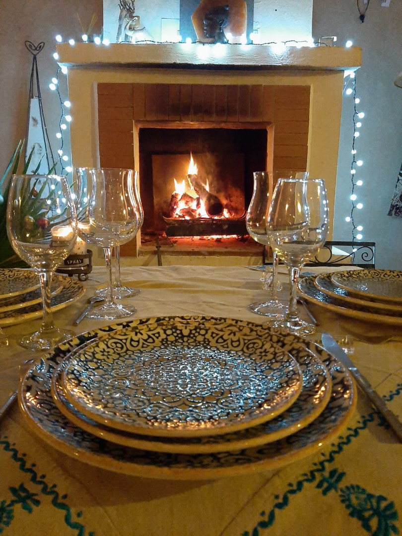 Romantic table d'hôtes at Kasbah Azul