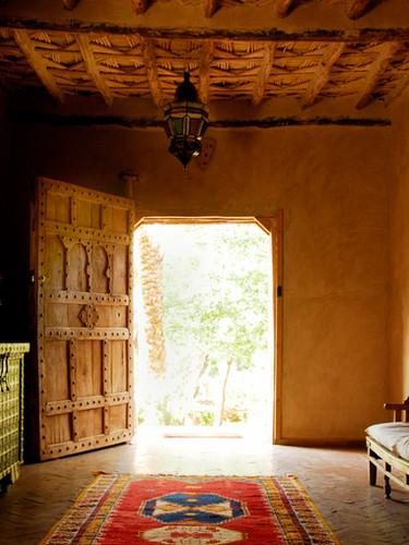 Une kasbah dans un jardin d'Eden