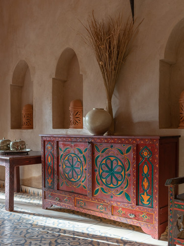A kasbah furnished with antique furniture nestled in the four corners of Morocco