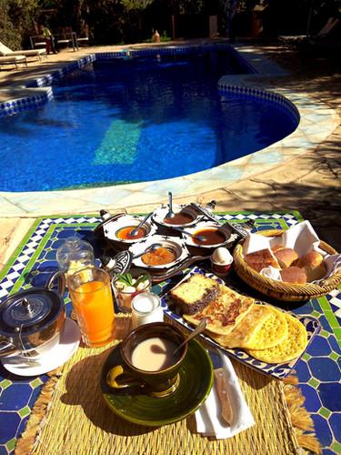 petit déjeuner gastronomique Riad kasbah Azul