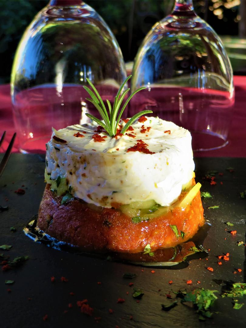 Inventive gastronomy of Kasbah Azul