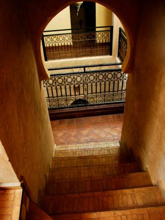 Elégance d'une architecture typique du Sud du Maroc-Kasbah Azul