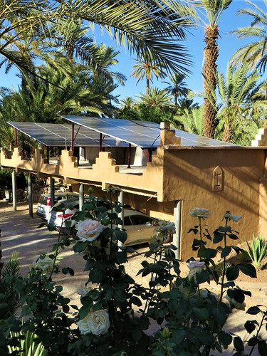 For sustainable tourism, the Kasbah Azul ecolodge has 100% solar power