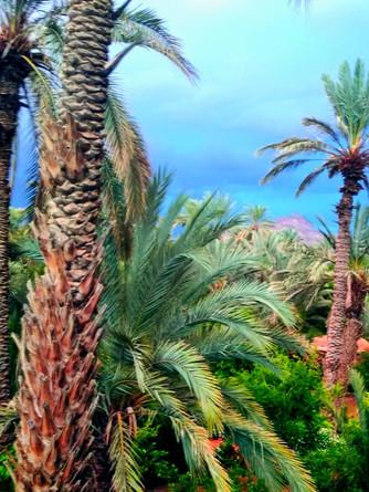 Vue sur le Jbel Kissane de la terrasse de la kasbah