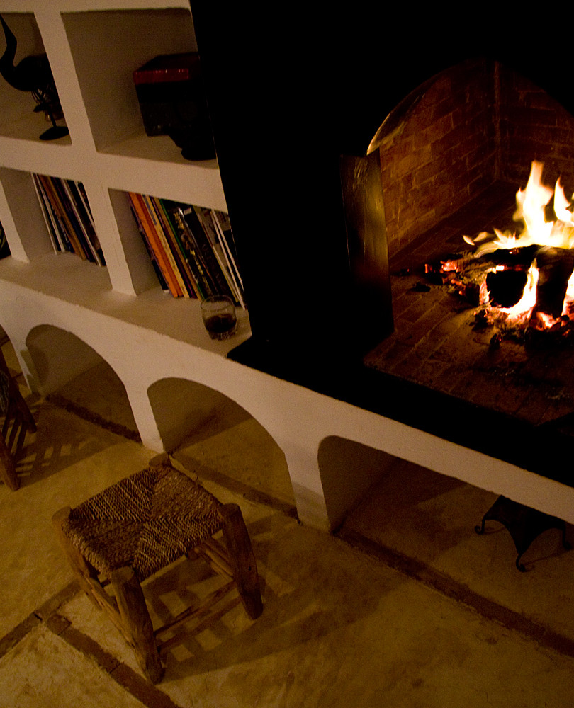 Atmosphere of a winter evening at the Kasbah Azul Ecolodge