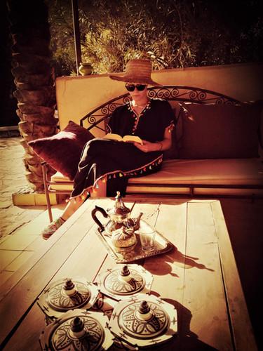 salon extérieur intime Kasbah Azul