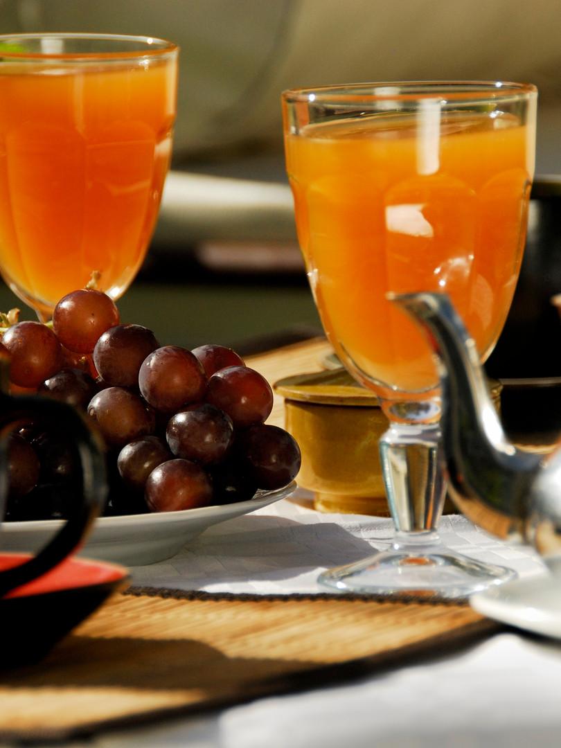 gourmet breakfast at the Kasbah Azul Ecolodge