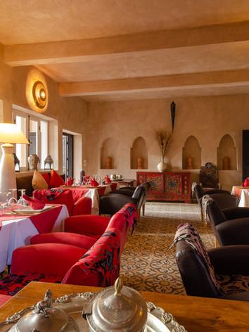 salle à manger de la Kasbah Azul