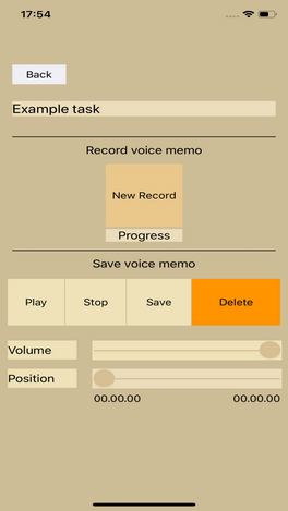 Add voice record to your task