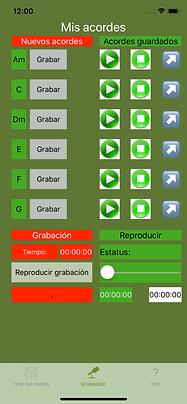 Dado de acordes - tire los dados para obtenir una combinación - grabe sus acordes o sonidos