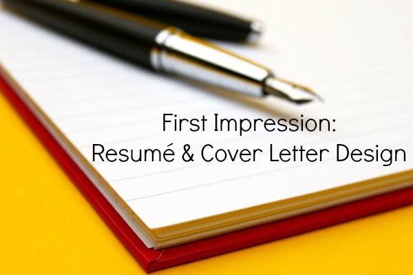 First Impression Resume Cover Letter Design